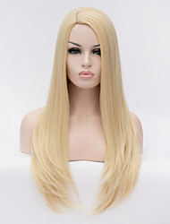 cheap -Synthetic Wig Straight Blonde Women's Capless Carnival Wig Halloween Wig Long Synthetic Hair