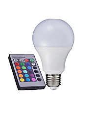 cheap -3W E26/E27 LED Globe Bulbs A60(A19) High Power LED 280-320 lm RGB 2000-5000 K Remote-Controlled AC 85-265 V 1set