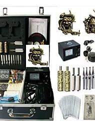 cheap -Basekey Tattoo Kit 2 Machines JHK0132 Machine With Power Supply Grips Cleaning Brush Ink Needles