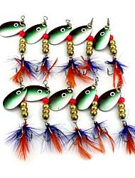 """10 Stk. Blink Skeer Spinnere Tilfældige farver g/Unse,63mm mm/2-1/2"""" Tommer,Fjer MetalHavfiskeri Ferskvandsfiskere Anden Flue Fiskeri"""