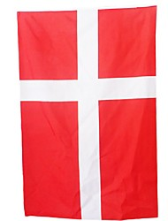 cheap -New 3Ft X 5Ft Hanging Flag Polyester Denmark National Flag Banner Home Decor