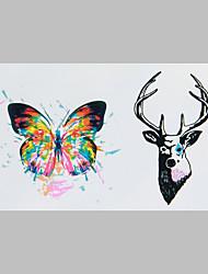 Недорогие -мода татуировки бабочки и олени водонепроницаемый наклейки татуировки