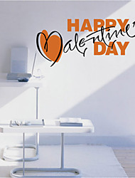 Romance Valentine's Day  Wall Stickers  Holiday / Shapes Wall Stickers Plane Wall Stickers, Two Color 40*69cm+58*27cm