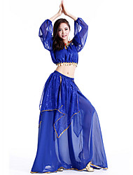 cheap -Shall We Belly Dance Outfits Women Performance Chiffon Top Skirt