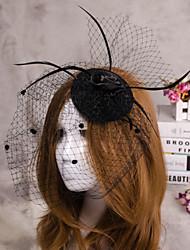 Недорогие -цветок перо вуаль чародей шляпы волос украшения для свадьбы