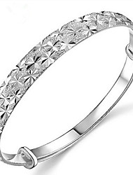 cheap -S925 Silver Star Shape Bangle for Women Wedding Party Jewelry Christmas Gifts