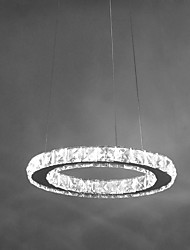 abordables -Lampe suspendue ,  Contemporain Chrome Fonctionnalité for Cristal LED MétalSalle de séjour Chambre à coucher Salle à manger Bureau/Bureau