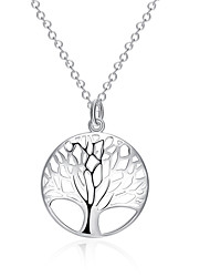 cheap -Women's Tree of Life Basic Pendant Necklace Jewelry Silver Plated Pendant Necklace , Christmas Gifts Wedding Party Special Occasion
