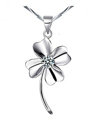 Necklace Pendant Necklaces Jewelry Daily / Casual Fashion Silver / Sterling Silver Silver 1pc Gift