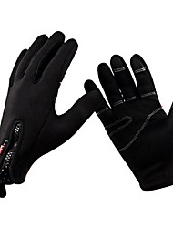 cheap -Sports Gloves Bike Gloves / Cycling Gloves Keep Warm Windproof Breathable Anti-skidding Protective Full-finger Gloves Synthetic Leather