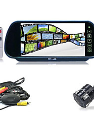 "cheap -7"" LCD Car Rear View Reverse Mirror Monitor + Wireless IR Backup Camera Cam Kit"
