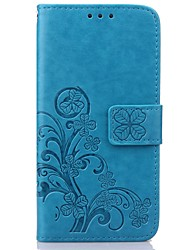 cheap -Case For Samsung Galaxy Samsung Galaxy Case Card Holder Wallet with Stand Flip Embossed Full Body Cases Flower PU Leather for S8 Plus S8
