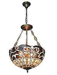 cheap -16inch Retro Tiffany Pendant Lights Glass Shade Living Room Dining Room light Fixture