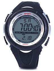 preiswerte -Herrn digital Armbanduhr Sportuhr Alarm Kalender Chronograph Wasserdicht LED PU Band Charme Schwarz