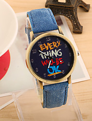 cheap -Women's Quartz Wrist Watch Hot Sale PU Band Vintage Fashion Black White Blue Red Green Yellow