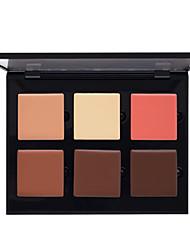 billiga Ansikte-# / 6 färger Hudvårdsbalsam Concealer / Contour 1 pcs Torr / Fuktig / Kombination Vitning / Dækning / Concealer Ansikte Kina Naturlig Smink Kosmetisk