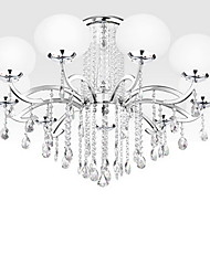 cheap -Modern/Contemporary Crystal Chandelier Uplight For Living Room Bedroom Dining Room 110-120V 220-240V 110-120V 220-240V Bulb Not Included