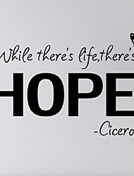 cheap -Modern Wall Sticker White While There'S A Life, There'S A Hope. Cicero Inspiring Wall Art Quotes