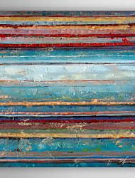 ručně malované olejomalba abstraktní barevné vrstvy s nataženém rámem 7 stěny arts®