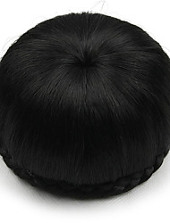 Недорогие -Kinky вьющиеся черные шнурка человеческих волос парики шиньоны 2