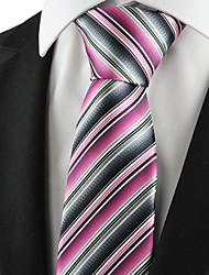 KissTies Men's Striped Microfiber Tie Necktie Formal Wedding Party Holiday Business With Gift Box (5 Colors Available)