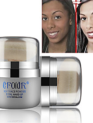 cheap -1 Foundation Dry Matte Shimmer Powder Whitening Moisture Coverage Oil-control Long Lasting Uneven Skin Tone Natural Pore-Minimizing