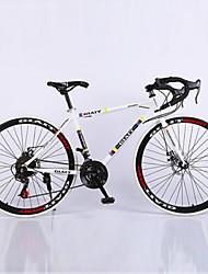 abordables -Vélo Route Cyclisme 21 Vitesse 26 pouces/700CC Unisexe Adulte Femme Aux femmes SHIMANO TX30 Frein à Double Disque Fourche à Suspension