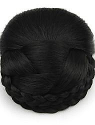 riccio crespo professione nero merletto dei capelli umani parrucche chignon 2