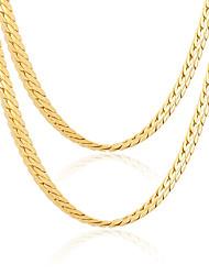 billige -Dame Kædehalskæde / Kæder - Guldbelagt Vintage, Mode Guld Halskæder Smykker Til Bryllup, Fest, Daglig
