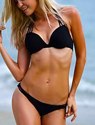 billige -Dame Bikini - Ensfarvet, Ren Farve G-streng