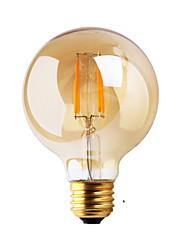 cheap -1pc ≥180 lm E26/E27 LED Filament Bulbs G80 2 leds COB Decorative Warm White AC 220-240V