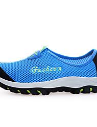 Feminino Sapatos Tule Sintético Conforto Caminhada Sem Salto Ponta Redonda Para Casual Cinzento Azul Coral