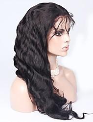 base de seda cheio perucas virgem brasileira dianteira do laço da onda do corpo glueless perucas densidade 150% com o fio natural