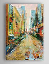 ručně malovaný pohled olejomalba krajina město s nataženém rámem 7 stěny arts®