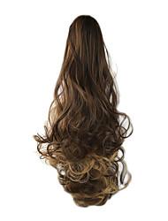 economico -24 pollici Marrone Con clip Ondulato Code Bear Claw / Jaw Clip Sintetico Pezzo di capelli Estensione capelli