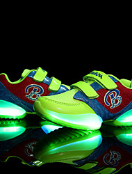 cheap -LED Light Up Shoes, Boys' and Girl  Shoes Casual Tulle Fashion Sneakers Black / Green / Red