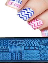 Недорогие -1шт 12 * 6см искусства ногтя штамповка пластина красочный дизайн изображения инструменты красивый цветок ногтей ху-p01-08