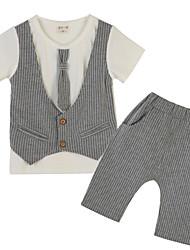 Ensemble de Vêtements Fille de Rayé Polyester Eté Gris