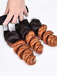Cabelo Humano Ondulado Cabelo Brasileiro Ondulação Larga 3 Peças tece cabelo