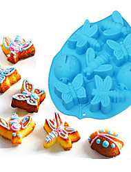 Insect Design Butterfly Bee Dragonfly Ladybug Silicone Cake Mold Bakeware Tools Chocolate Ice Mold Random Color