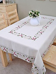 cheap -Embroidered Tablecloth Cotton Tablecloth Linen Tablecloth Classical 140x200cm (56*80inch)