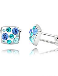 1 Pair Men's High Quality  Crystal Cufflinks