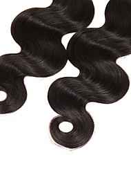 cheap -New Arrival 3Bundles 150g Peruvian Virgin Hair Weave Natural Black Body Wave Unprocessed Virgin Human Hair Weaves