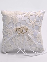 cheap -Double Heart Hollow Flower Ring Pillow The Wedding Store Wedding Theme