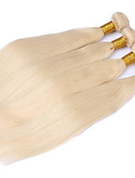 preiswerte -Echthaar Brasilianisches Haar Menschenhaar spinnt Glatt Haarverlängerungen 3 Stück Blonde