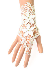 cheap -Lace Wrist Length Glove Bridal Gloves Party/ Evening Gloves With Embroidery Floral