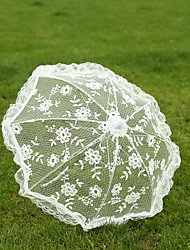 cheap -White Lace Wedding Unmbrellas for Bridal Parasols(42cm) Wedding Accessories