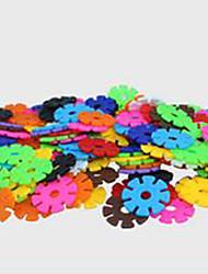 снежинка блоки, детский раннее образование образовательные игрушки, головоломки просветление-4.3cm, 1000 штук