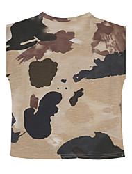 abordables -Ensemble de Vêtements Garçon Sortie Polyester Eté Manches Courtes Vert Véronèse