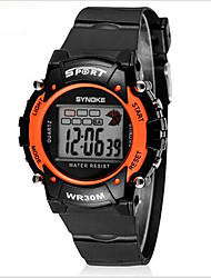 cheap -SYNOKE Kids' Sport Watch Wrist watch Digital LCD Calendar Chronograph Water Resistant / Water Proof Alarm Luminous Rubber Band Black